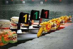 Dragon Boats at the dock. Royalty Free Stock Photography