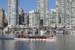Dragon Boats on False Creek Royalty Free Stock Photography