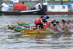 Dragon boats festival in Prague Stock Photo