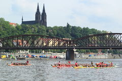 Dragon boats festival in Prague 2014 Stock Photo