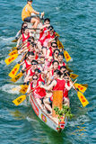 Dragon boats festival race Stanley beach Hong Kong Stock Photos