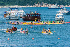 Dragon boats festival race Stanley beach Hong Kong Stock Photography