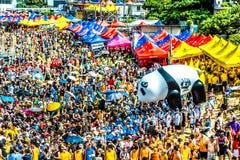 Dragon boats festival race Stanley beach Hong Kong Stock Image