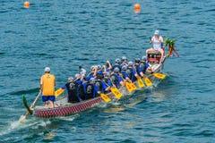 Dragon boats festival race Stanley beach Hong Kong Stock Photos