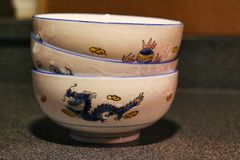 Dragon bowls Royalty Free Stock Images
