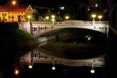 Dragon Bridge. The symbol of Ljubljana, Slovenia Stock Photos