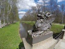 Dragon Bridge, 1785 in Alexander Park, Tsarskoye Selo Pushkin, Saint Petersburg, Russia Stock Image