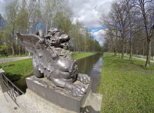 Dragon Bridge, 1785 in Alexander Park, Tsarskoye Selo Pushkin, Saint Petersburg, Russia Royalty Free Stock Image