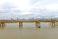 Dragon Bridge Cau Rong Da Nang Vietnam Royaltyfri Foto