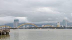 Dragon Bridge Cau Rong Da Nang Vietnam Fotografering för Bildbyråer