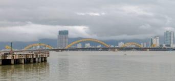 Dragon Bridge Cau Rong, Da Nang Vietname fotos de stock royalty free