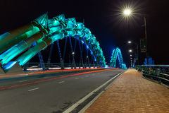 The dragon bridge in Da Nang Stock Photos