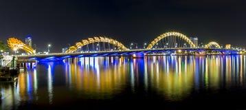 Dragon Bridge, Da Nang nightlife Royalty Free Stock Image