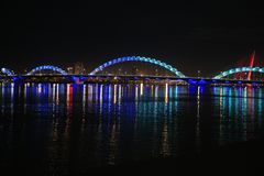 Dragon Bridge Da Nang Vietnam foto de stock