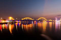 Dragon Bridge Da Nang, Vietnam Royaltyfri Bild
