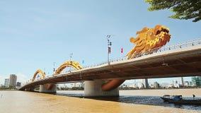 Dragon Bridge in Danang city. Vietnam. stock video footage