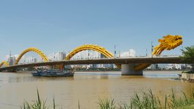 Dragon Bridge in Danang city. Vietnam. stock video
