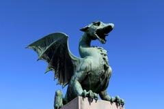 Dragon Bridge, Ljubljana fotos de stock