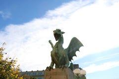 Dragon Bridge, Ljubljana fotos de stock royalty free