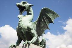 Dragon Bridge in Ljubljana Royalty Free Stock Image