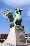 Dragon Bridge, Ljubljana. Royalty Free Stock Images