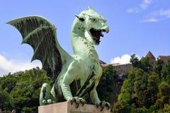 Dragon bridge, Ljubljana Stock Photo