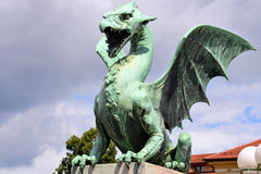 Dragon bridge, Ljubljana Royalty Free Stock Photo
