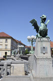 Dragon Bridge, Ljubljana 3 Royalty Free Stock Photography
