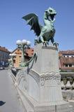 Dragon Bridge, Ljubljana 2 Stock Photography