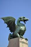 Dragon Bridge, Ljubljana. The Dragon Bridge in Ljubljana - Slovenia Stock Photos