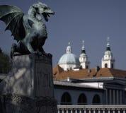 The Dragon Bridge in Ljubljana, Slovenia Stock Images