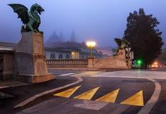 Ljubljana, Dragon Bridge. Royalty Free Stock Images