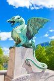 Dragon bridge, Ljubljana, Slovenia, Europe. Royalty Free Stock Images