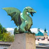 Dragon bridge, Ljubljana, Slovenia, Europe. Stock Photo