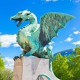 Dragon bridge, Ljubljana, Slovenia, Europe. Stock Photography