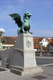 Dragon Bridge Ljubljana Royalty Free Stock Image