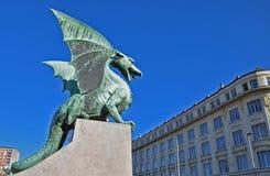 Dragon bridge in Ljubljana, Slovenia Royalty Free Stock Image