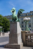 Dragon Bridge in Ljubljana Royalty Free Stock Image