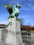 Dragon bridge in Ljubljana, Slovenia Stock Photo