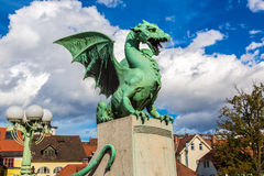 Dragon bridge in Ljubljana Stock Photos