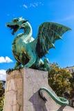 Dragon bridge in Ljubljana Stock Photography