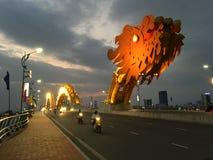 Dragon Bridge at night Royalty Free Stock Image
