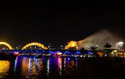 Dragon Bridge, Night view, Danang Royalty Free Stock Images