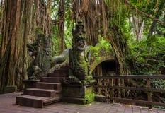 Dragon Bridge in Sacred Monkey Forest Sanctuary, Ubud, Bali Stock Photos