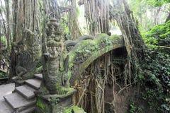 Dragon Bridge in Sacred Monkey Forest Sanctuary, Ubud, Bali Royalty Free Stock Photo