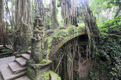 Dragon Bridge in Sacred Monkey Forest Sanctuary, Ubud, Bali Royalty Free Stock Image