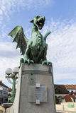 Dragon bridge statue Royalty Free Stock Images
