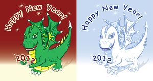 Dragon bring 2012 year Stock Photography