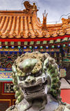 Dragon Bronze Statue Roof Summer Palace Beijing, China Royalty Free Stock Photo