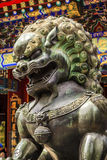 Dragon Bronze Statue Roof Summer Palace Beijing China Royalty Free Stock Images